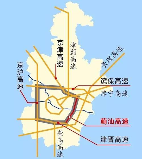 """天津""""五环""""时代来了!蓟汕高速公路现已完工"""